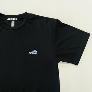 LOGO DRY T-SHIRT / BLACK×UNIVERSITY BLUE