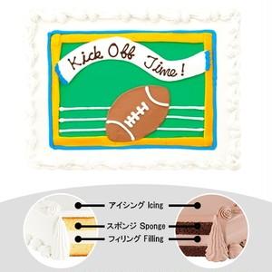【予約】コストコ ハーフシートケーキ フットボールケーキ | [Pre-order] Costco Half-sheet cake Football Cake