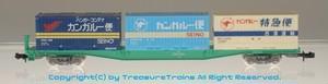 コキ250000形+西濃運輸コンテナ(UC7/U30B/U31A)積載セット