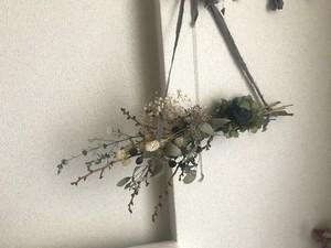 dryflower and preservedflowerの壁かけ