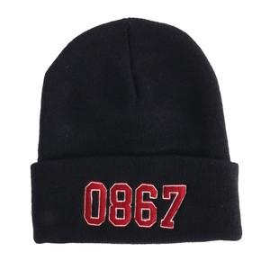 0867 / Knit Cuff Beanie / College / Logo / Navy