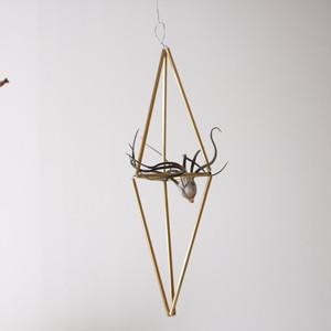[手作りキット]真鍮のヒンメリとチランジアのセット【3】