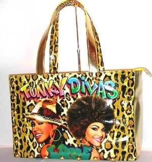 Funky Divas レオパード プリント トートバッグ