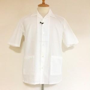 Cotton Seersucker Shirt jacket White