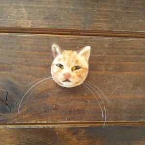 トラ猫ブローチ