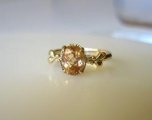 インペリアルトパーズのK14の指輪