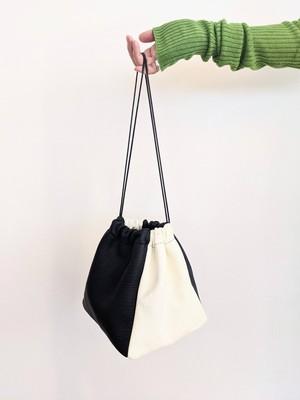 Deer Skin Bag - White / Black