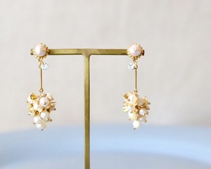 Lady drop flower pierce/earring