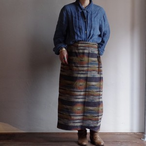Native Style Rolled Skirt / ネイティブ スタイル ラップスカート