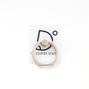 I'm coffee stand Mobile Ring ロゴ(ホワイト)