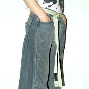 『SOK KYO』 OBI-belt [beige/Green/Deep green/Pink]