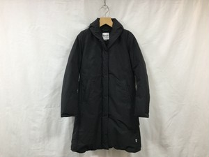 "women's NANGA "" SHAWL COLLAR DOWN COAT "" BLACK"