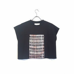 """koll"" Block lace t- shirt"