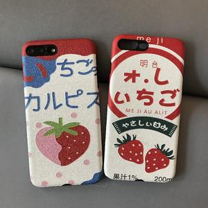 【小物】フルーツイチゴiPhoneXS/8plus/7/6s/XR/Maxスマホケース