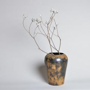 ラスティ フラワーベース バレル〈花瓶 / ドライフラワー / ディスプレイ 〉