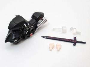 【1142DX】 セイバーオルタ 新宿Ver.&キュイラッシェ・ノワール 小物パーツ バイクと剣 ねんどろいど