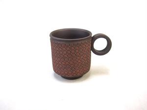 【常滑焼】マグカップ(小)/赤・小花柄