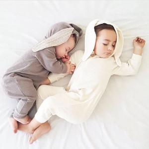 Baby うさ耳ロンパース オールインワン 6色 ベビー服 出産祝い