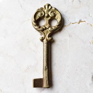 アンティークキー リアル・ヴィンテージ 金の門扉 +*ヨーロッパ・アルケミスト
