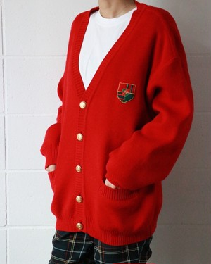 Celine red cardigan