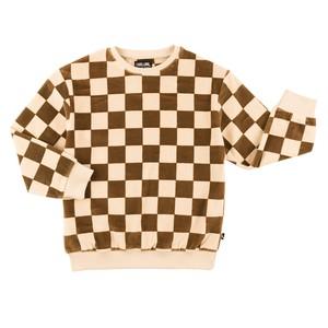 【20AW】カーラインク(CARLIJNQ)checkers sweater ブロックチェック スウェット