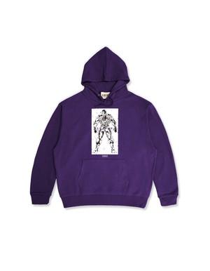 """XENO x BAKI Collaboration Hoodie """" HANAYAMA"""" Purple"""
