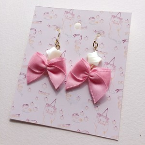 【旧作セール¥300均一】Star & Ribbon earrings