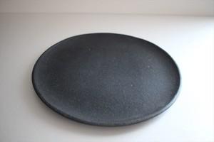 フルカワゲンゴ(撫菜花工藝)|南蛮(墨) 8寸皿