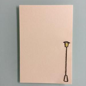 刺繍ポストカード(ガス燈)