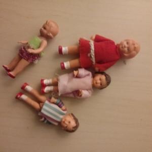 旧東ドイツ製 ゴム人形4人セット