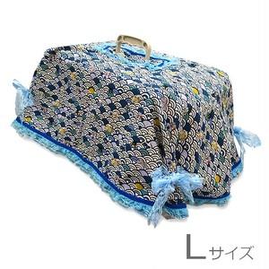 キャリーカバー(青ねこ和柄 Lサイズ)【CK-025L】
