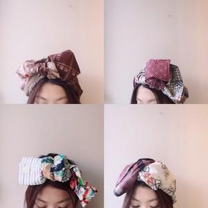 【SALE】Lilianとmoccu original sleeve remake hairband4