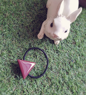 三角△シンプルヘアゴム