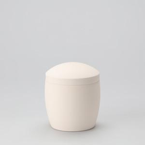 九谷焼 キャンバス骨壷 4寸 素焼き