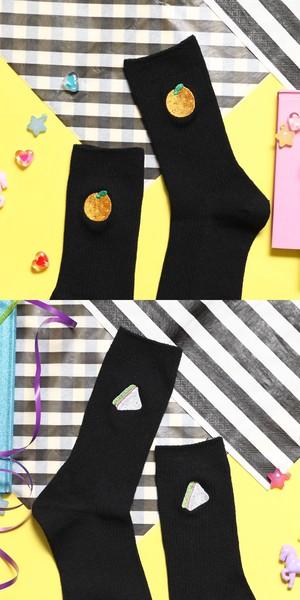 刺繍ソックス(20type)