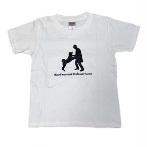 ハチ公 子供Tシャツ ホワイト