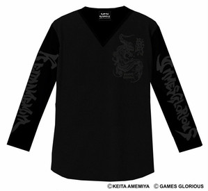 【 KEITA AMEMIYA x GAMES GLORIOUS 】K.A. Long Tee - Maryuu - / GAMES GLORIOUS