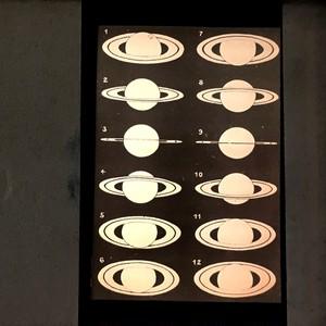 幻灯機スライド 12種類の土星