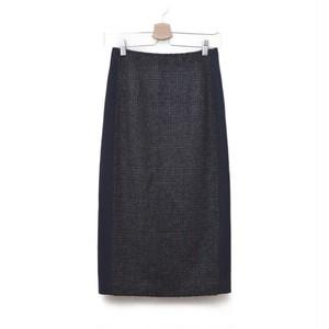 IENA / イエナ | 2017AWモデル | チェックバイカラースカート | 34 | ネイビー