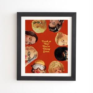 フレーム入りアートプリント LOOK AT YOU BY JULIA WALCK 【受注生産品: 10月下旬頃入荷分 オーダー受付中          】