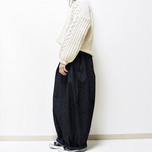 3月末 予約販売 HARVESTY / デニム サーカスパンツ ワンウォッシュ