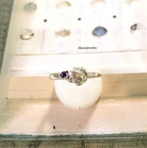 2月のカエル アメシストとカエルの指輪
