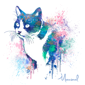 Paint pop art illustration/Portraits of Dogs, Cats and Pets
