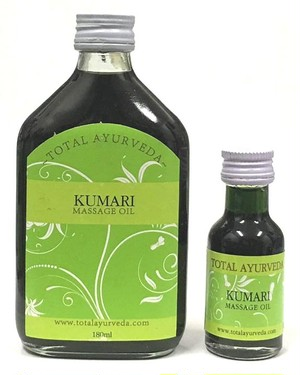 クームドゥ ヘアーオイル(Kumari Massage Oil)180ml Total Ayurveda