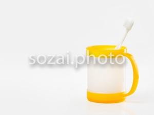 写真素材(白い歯ブラシとカップ-5129542)
