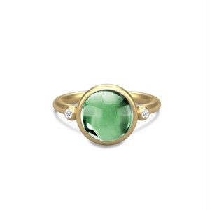 JULIE SANDLAU PRIME RING  GREEN AMETHYST CRYSTAL