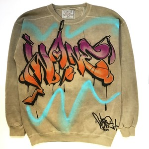CUSTOM AIRBRUSHED WANE CREWNECK BY WANE C.O.D