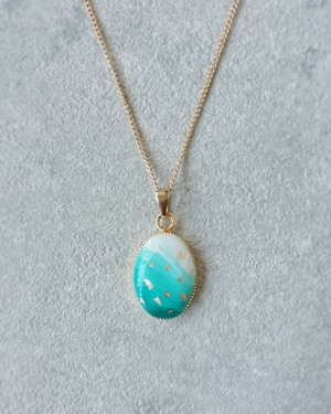Gradation Necklace with Gold leaf (金箔のせグラデーションネックレス)