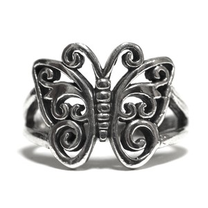 Vintage Mexican Sterling Silver Papillon Ring