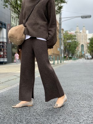 knit up pants / brown (即納)